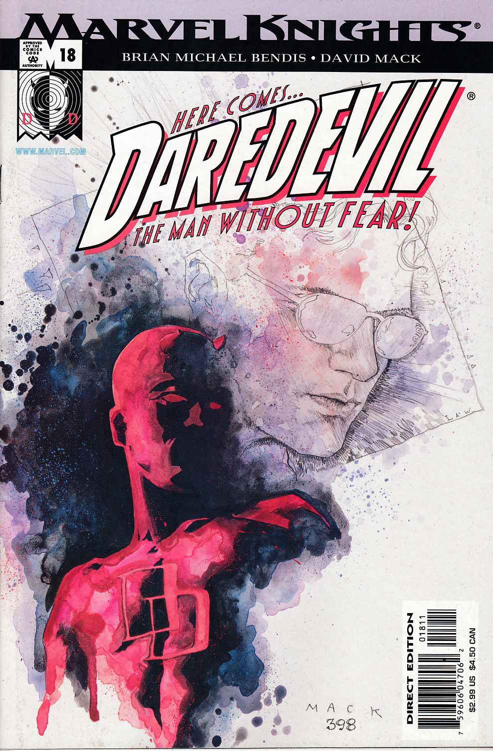 Daredevil #18 Near Mint (9.4) [Marvel Comic] THUMBNAIL