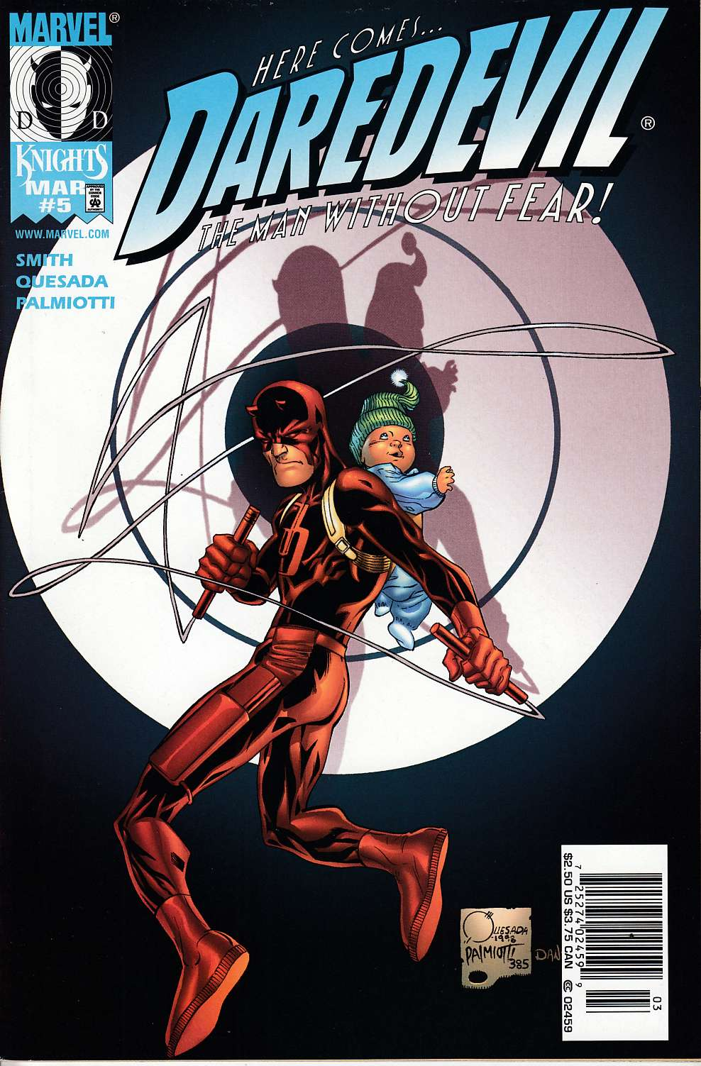 Daredevil #5 Cover B Near Mint (9.4) [Marvel Comic] LARGE