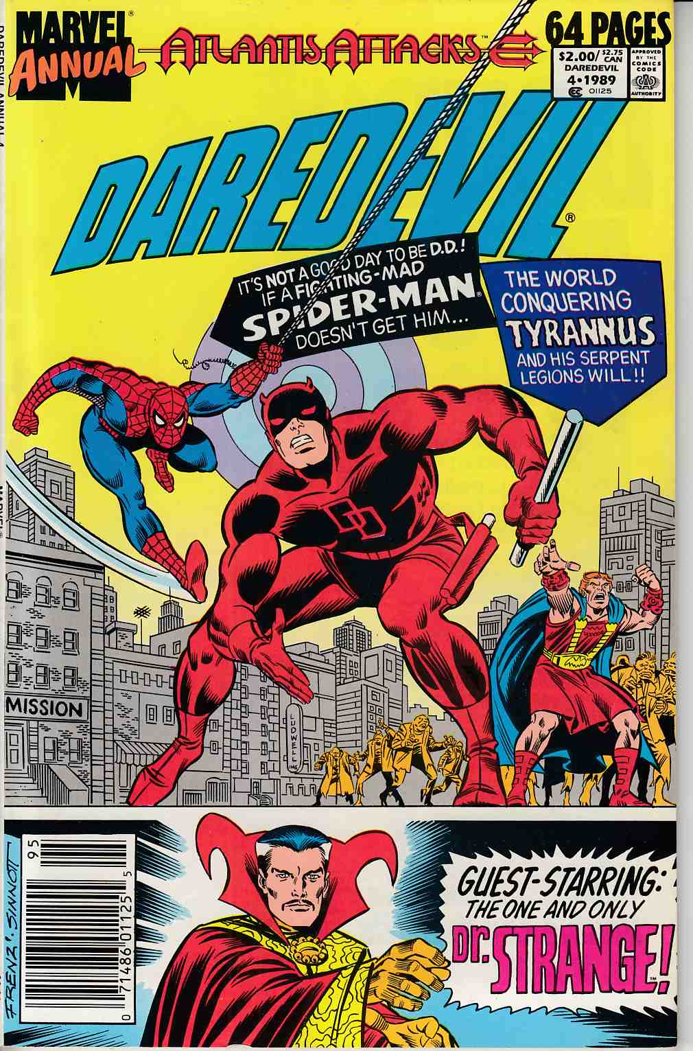 Daredevil Annual #5 Newsstand Edition Near Mint (9.4) [Marvel Comic] THUMBNAIL