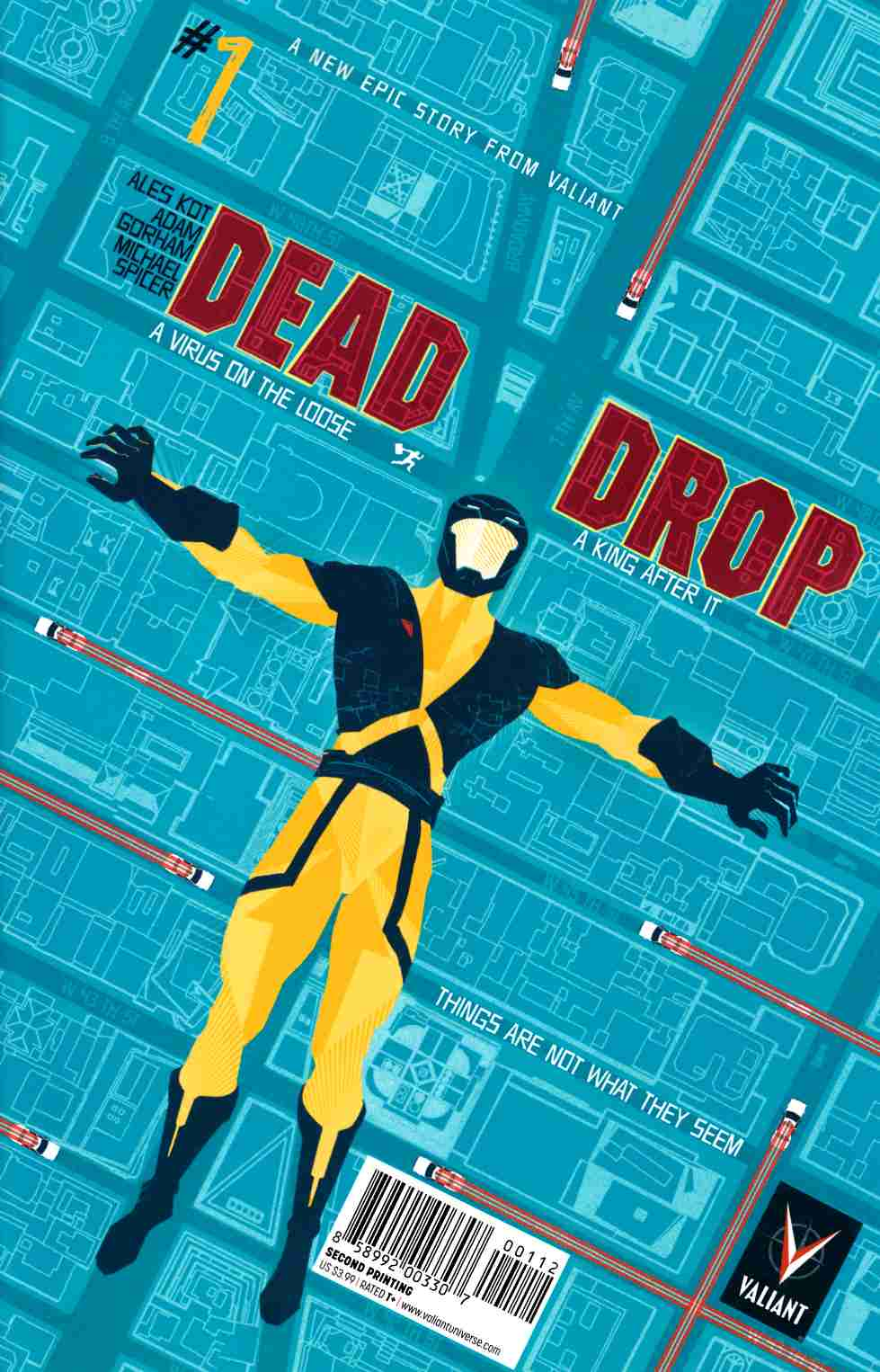 Dead Drop #1 Second Printing [Valiant Comic] LARGE