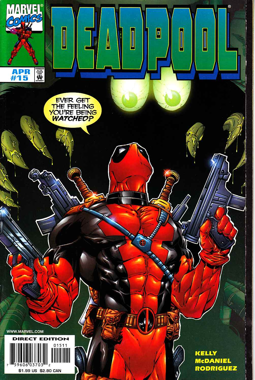 Deadpool #15 Near Mint (9.4) [Marvel Comic] THUMBNAIL