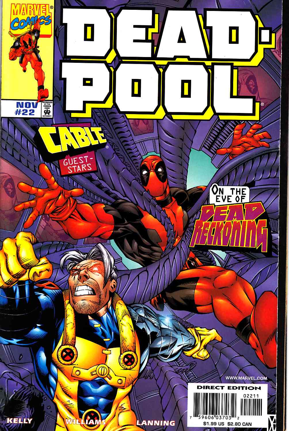 Deadpool #22 Near Mint (9.4) [Marvel Comic] THUMBNAIL