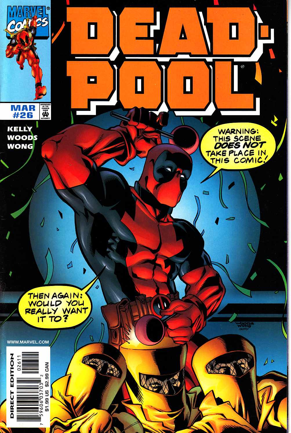 Deadpool #26 Near Mint (9.4) [Marvel Comic] THUMBNAIL