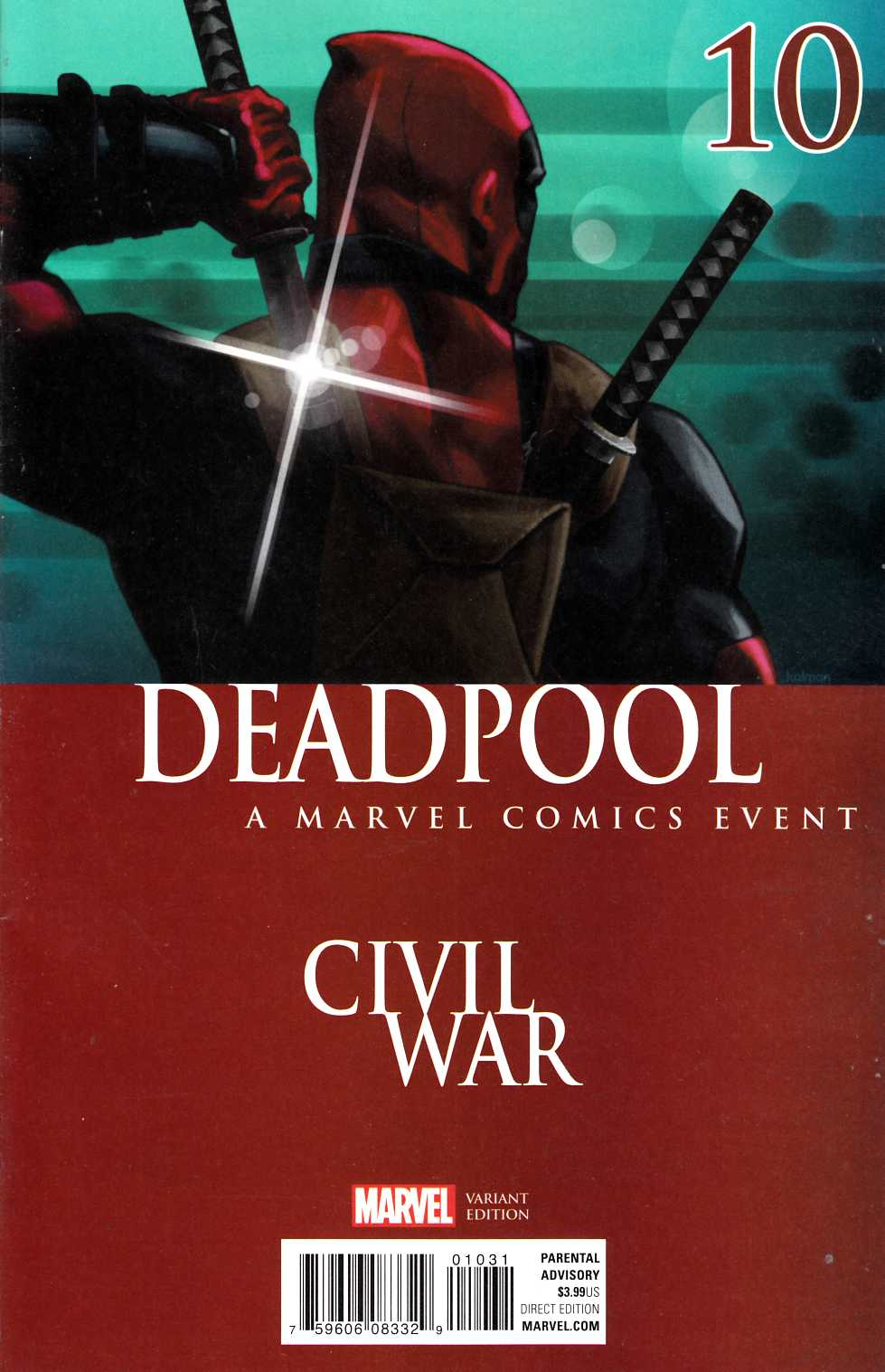 Deadpool #10 Civil War Variant Cover [Marvel Comic]_THUMBNAIL