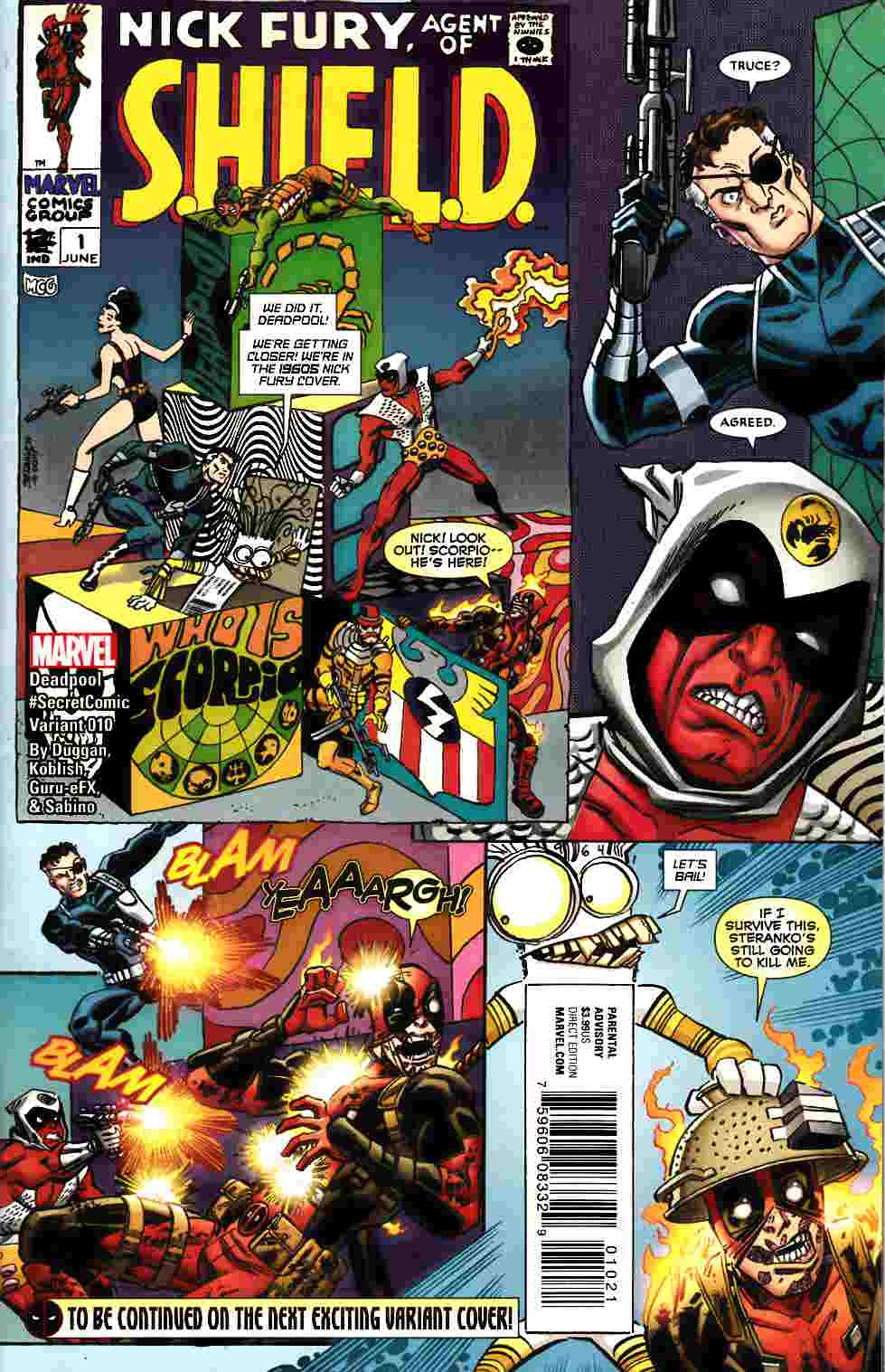 Deadpool #10 Koblish Secret Comic Variant Cover [Marvel Comic]_THUMBNAIL