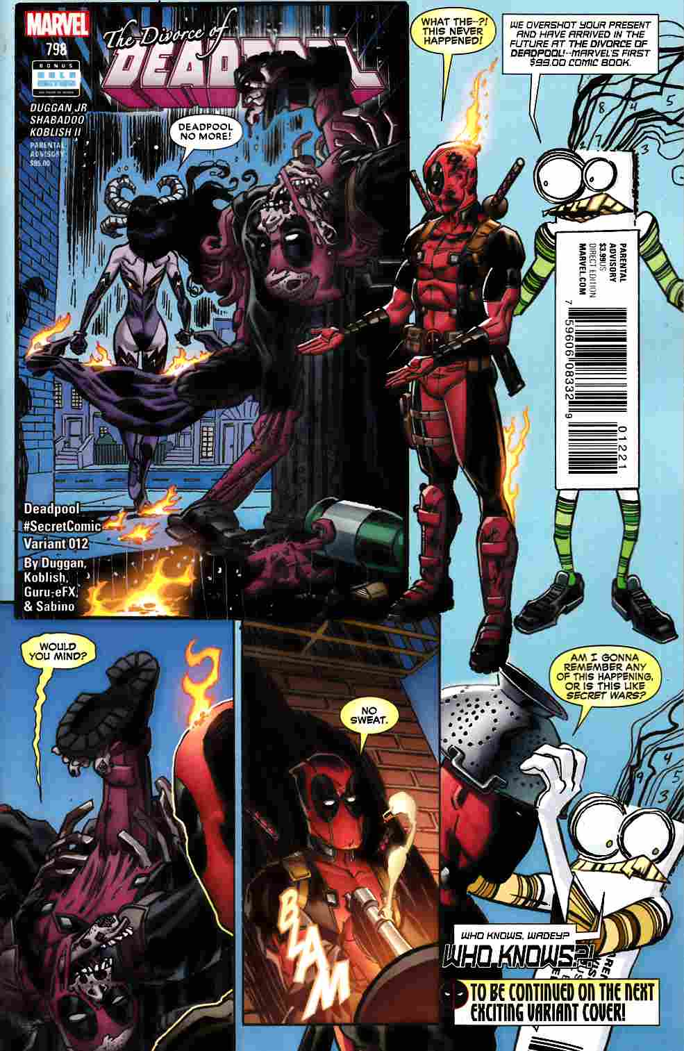 Deadpool #12 Koblish Secret Comic Variant Cover [Marvel Comic]_THUMBNAIL