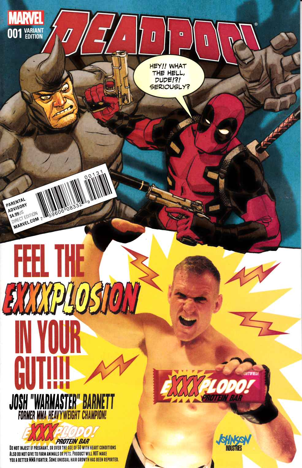 Deadpool #1 Johnson Candy Variant Cover [Marvel Comic]_THUMBNAIL