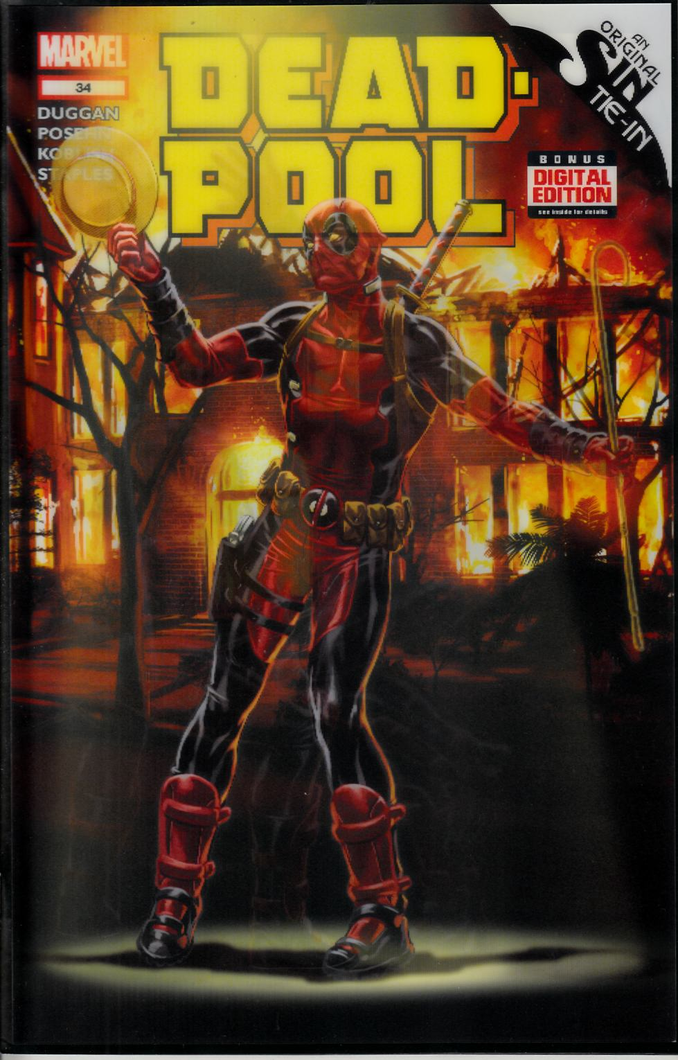 Deadpool #34 3D Brooks Variant Cover [Comic] LARGE