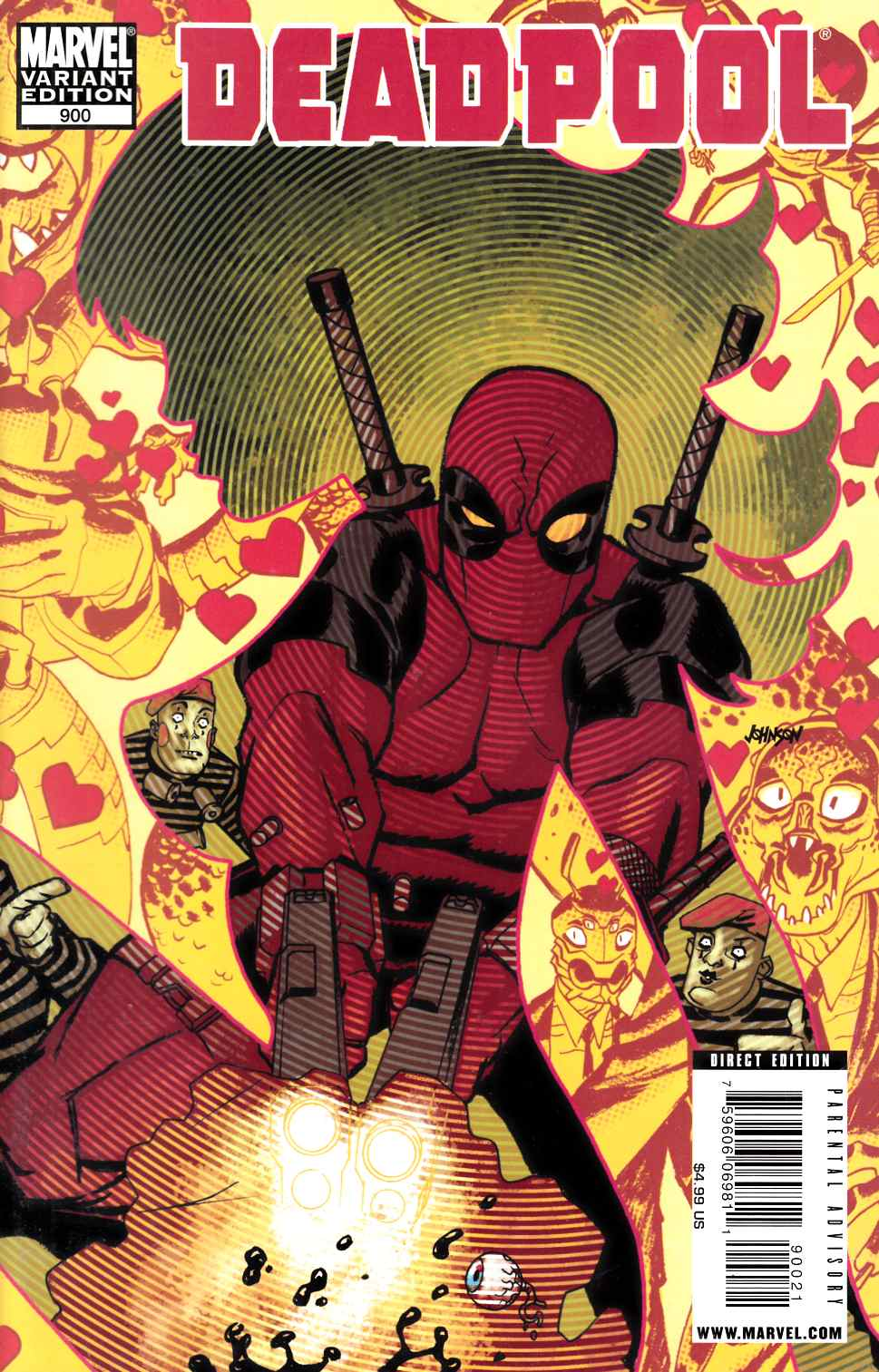 Deadpool #900 Johnson Variant Cover [Marvel Comic] THUMBNAIL