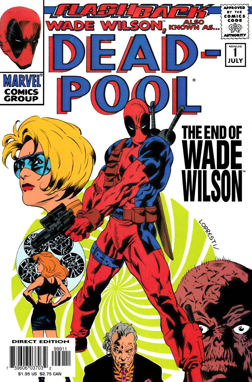 Deadpool Minus 1 Very Fine Plus (8.5) [Marvel Comic] THUMBNAIL