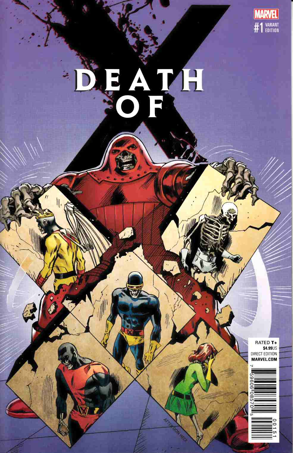 Death Of X #1 Guice Classic Variant Cover [Marvel Comic] LARGE