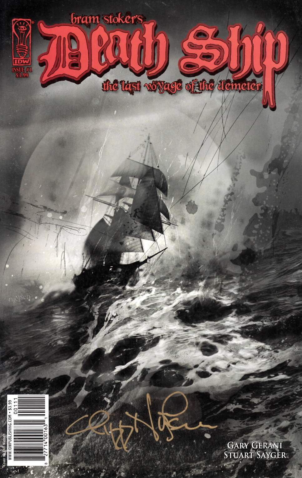 Bram Stokers Death Ship #1 Signed Incentive Edition [Comic]