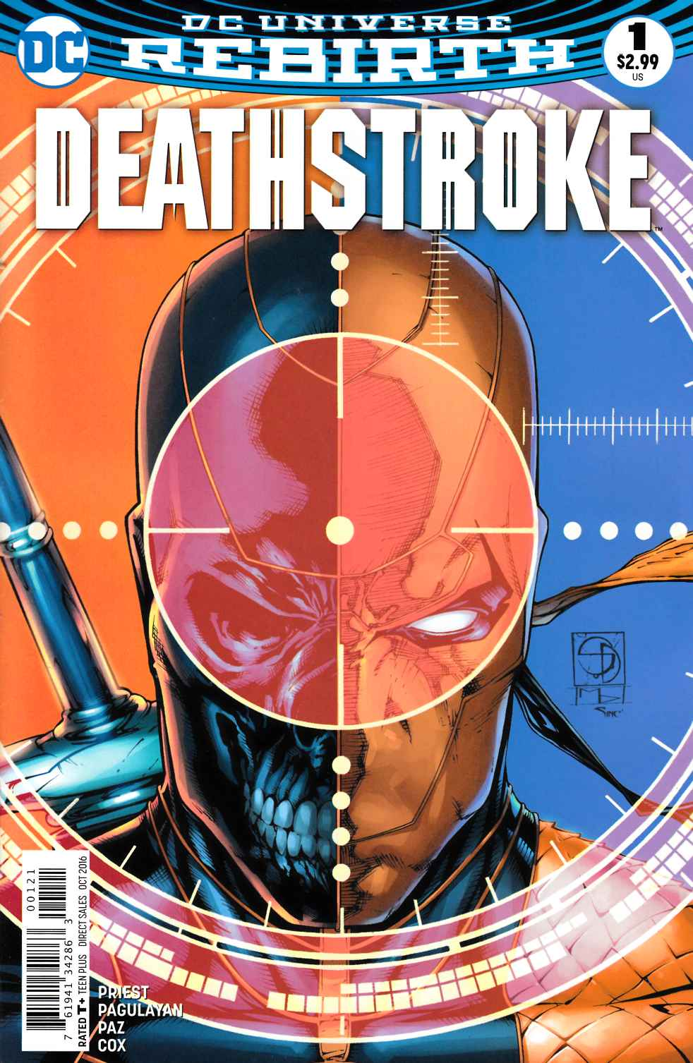 Deathstroke #1 Davis Variant Cover [DC Comic] LARGE