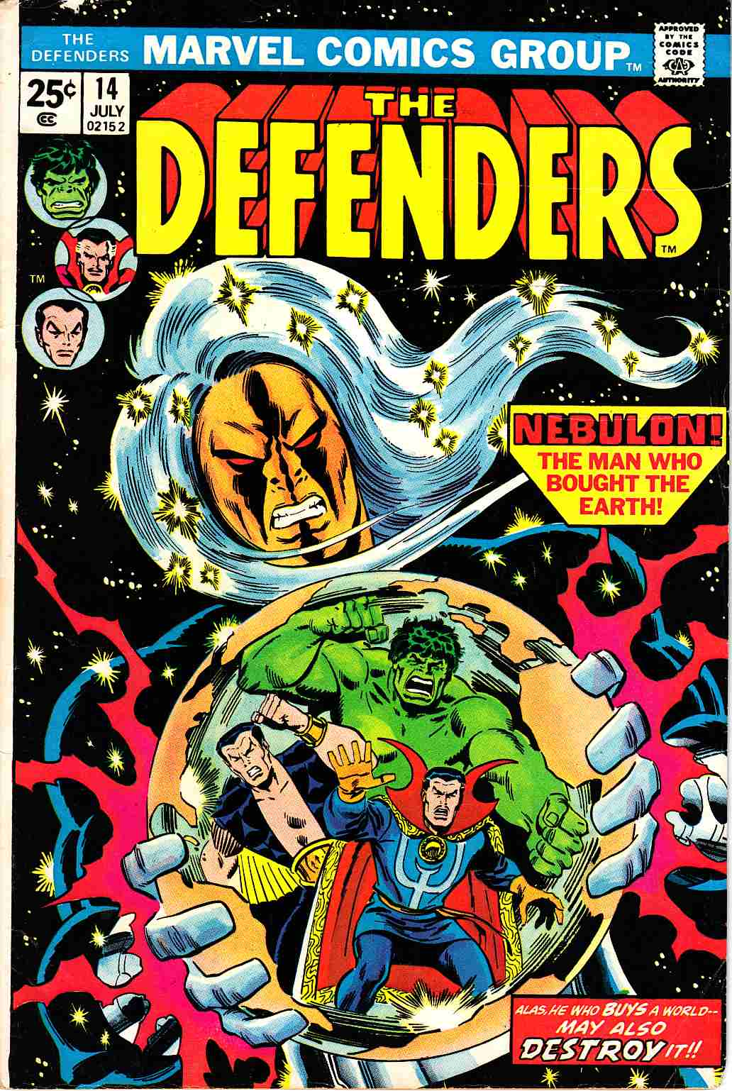 Defenders #14 Very Good (4.0) [Marvel Comic]