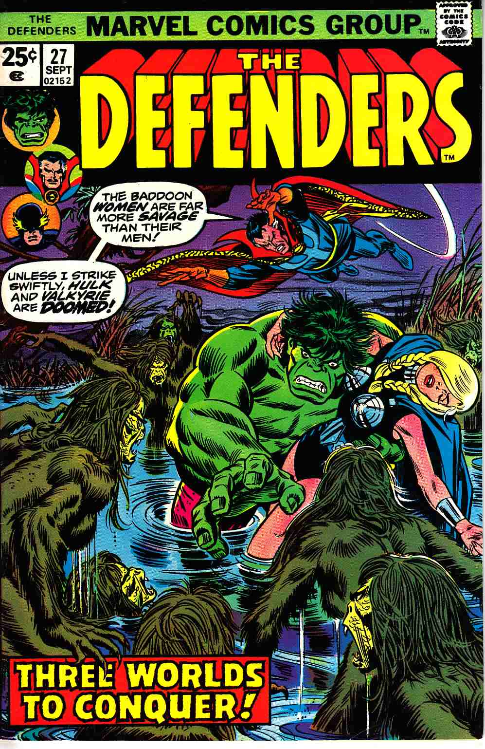 Defenders #27 Fine/Very Fine (7.0) [Marvel Comic]