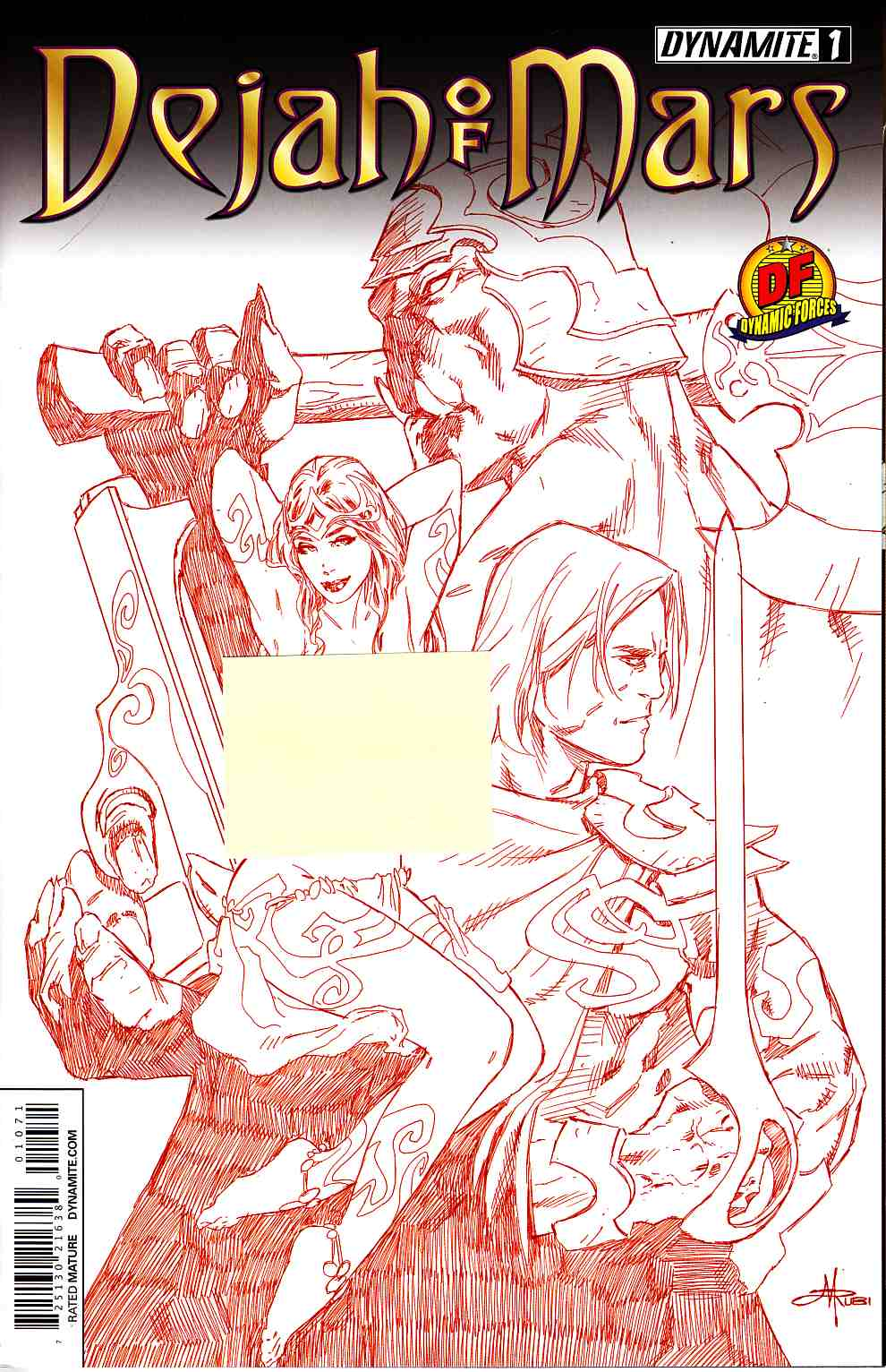 Dejah of Mars #1 DF Limited Rubi Red Risque Cover [Dynamite Comic]_THUMBNAIL