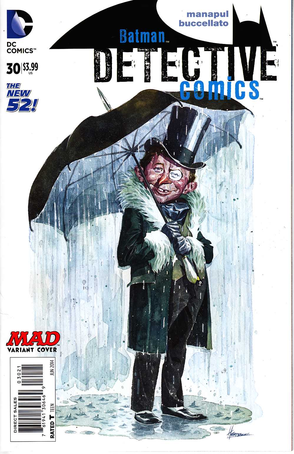 Detective Comics #30 Mad Variant Cover Near Mint (9.4) [DC Comic] LARGE