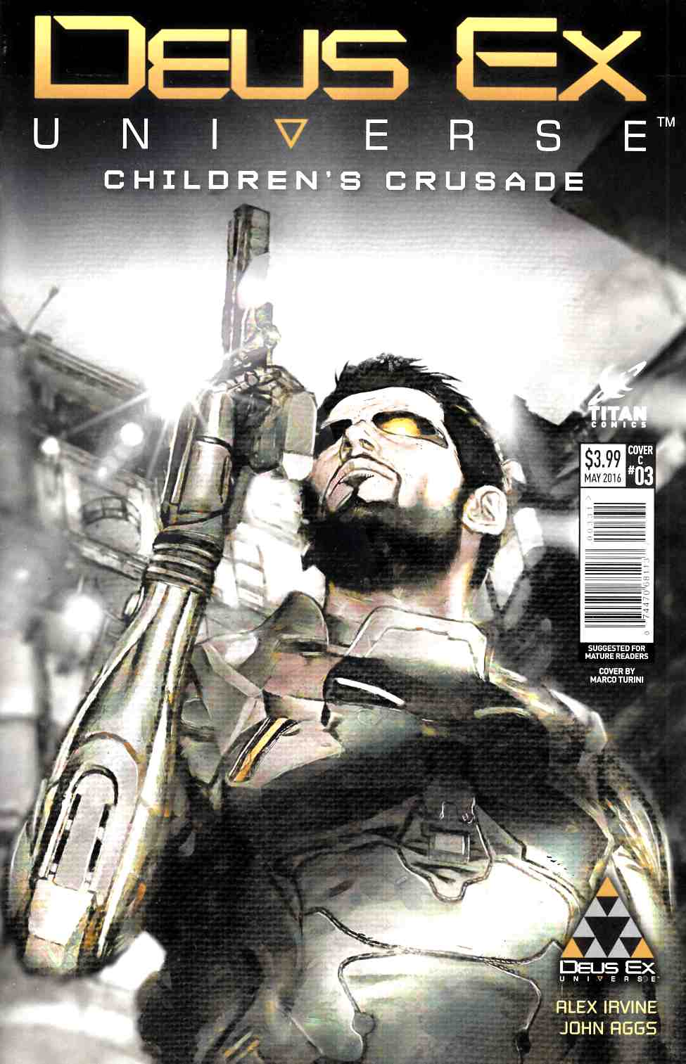 Deus Ex #3 Cover C [Titan Comic]