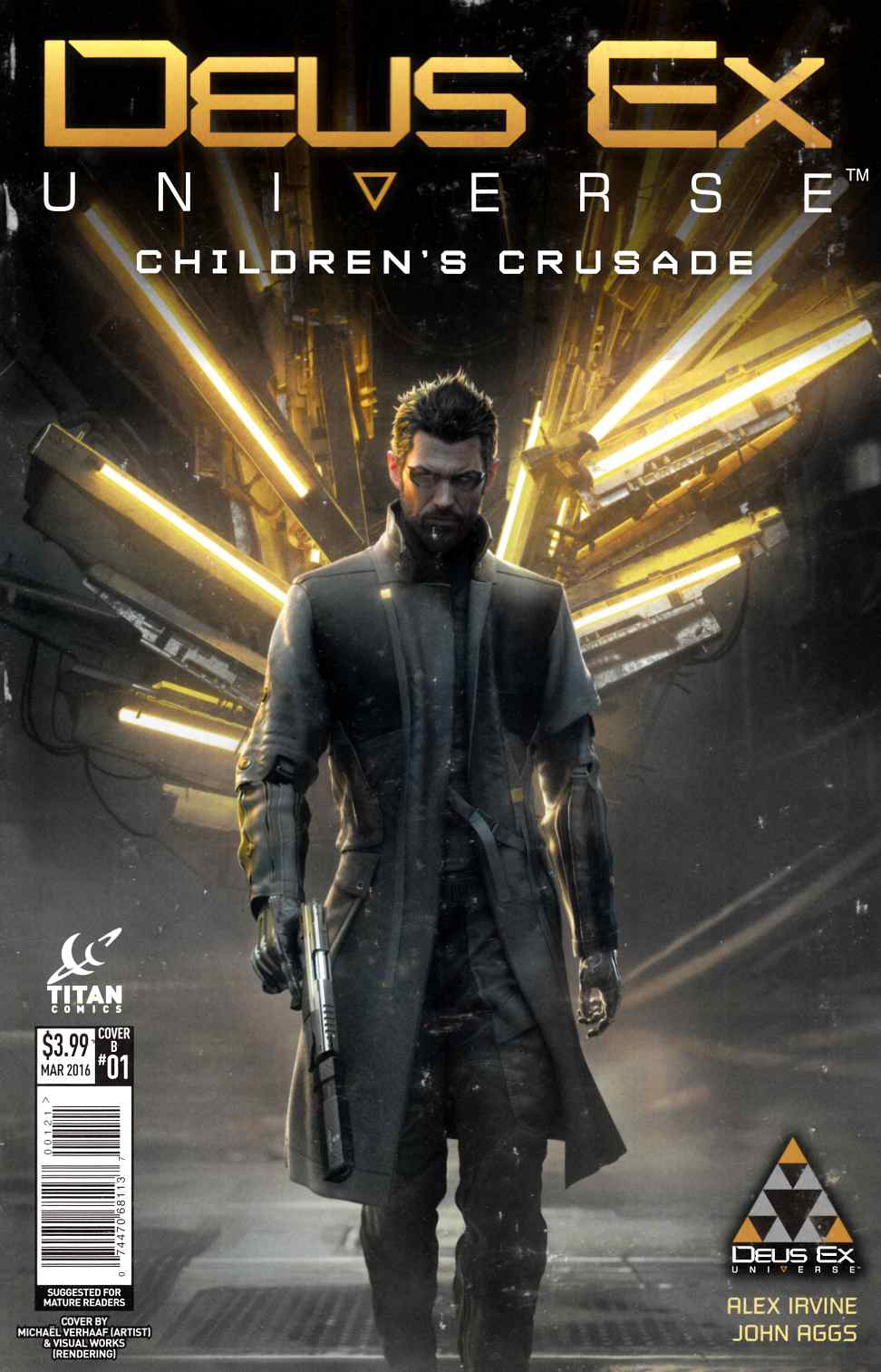 Deus Ex #1 Cover B- Game Cover [Titan Comic] THUMBNAIL