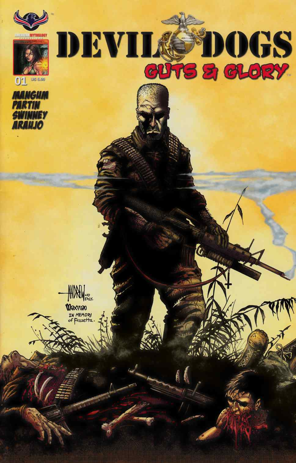 Devil Dogs Guts & Glory #1 Subsciption Cover [American Myth Comic] THUMBNAIL