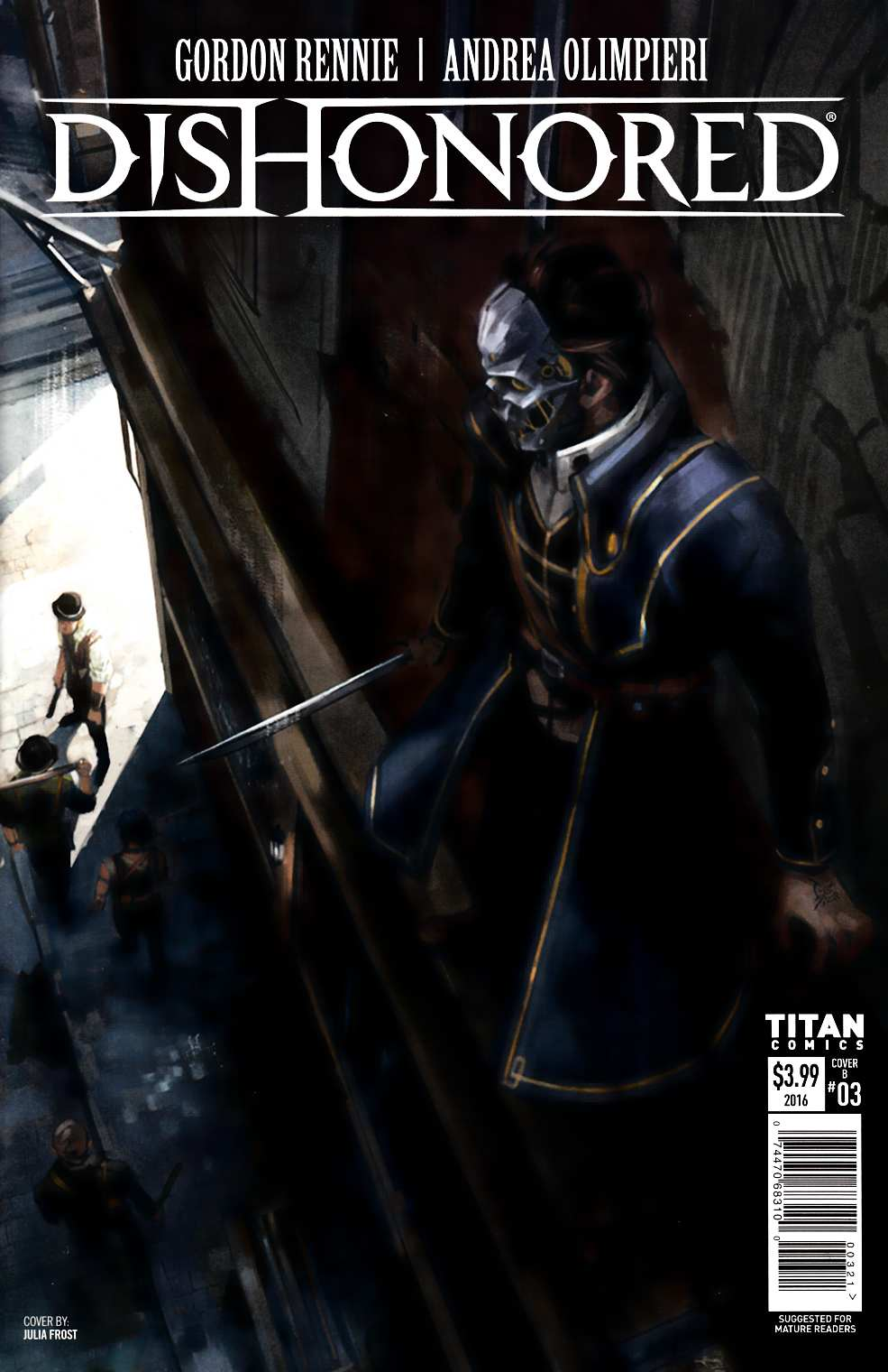 Dishonored #3 Cover B [Titan Comic]