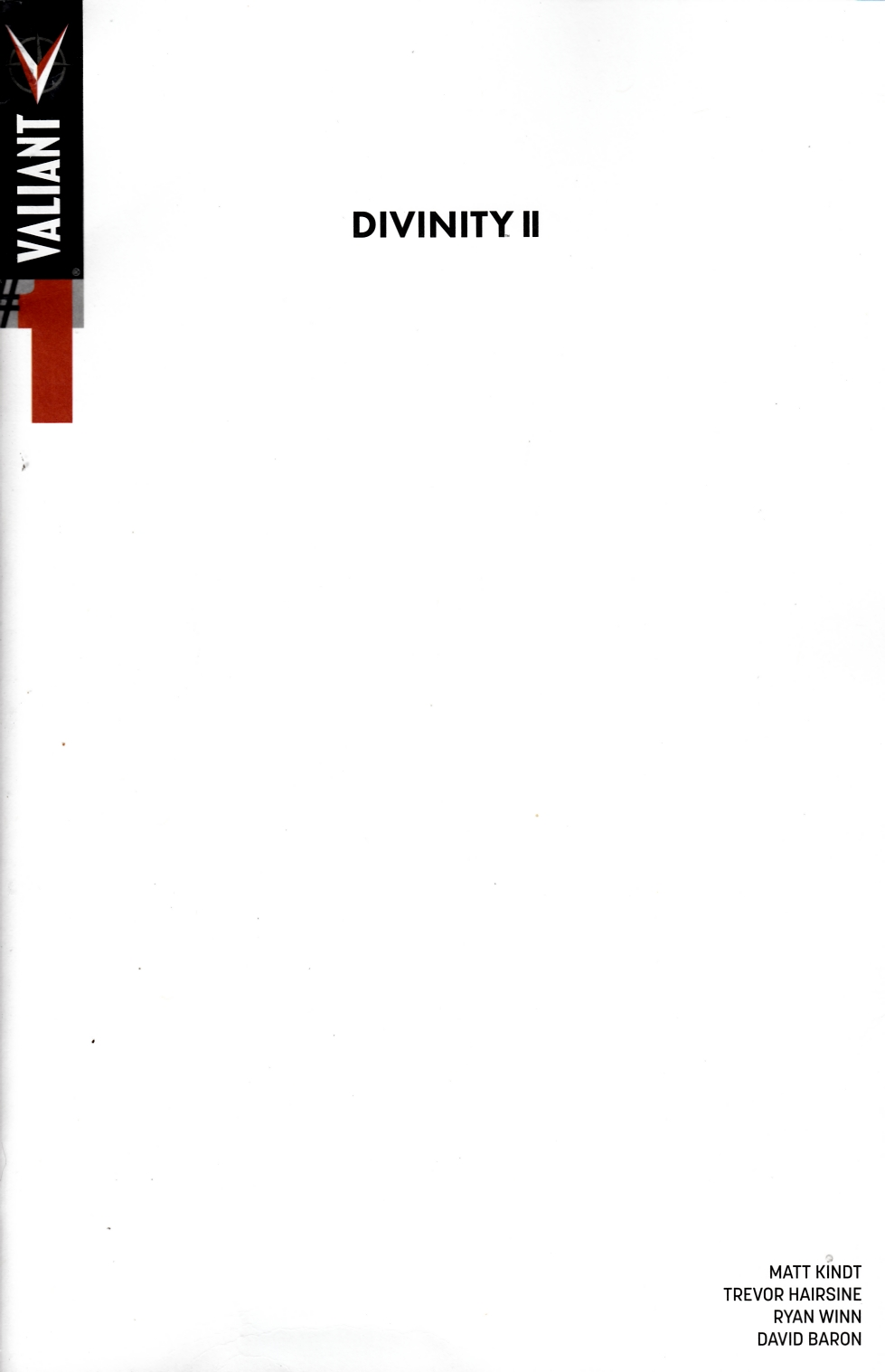 Divinity 2 #1 Cover C- Blank [Valiant Comic] THUMBNAIL