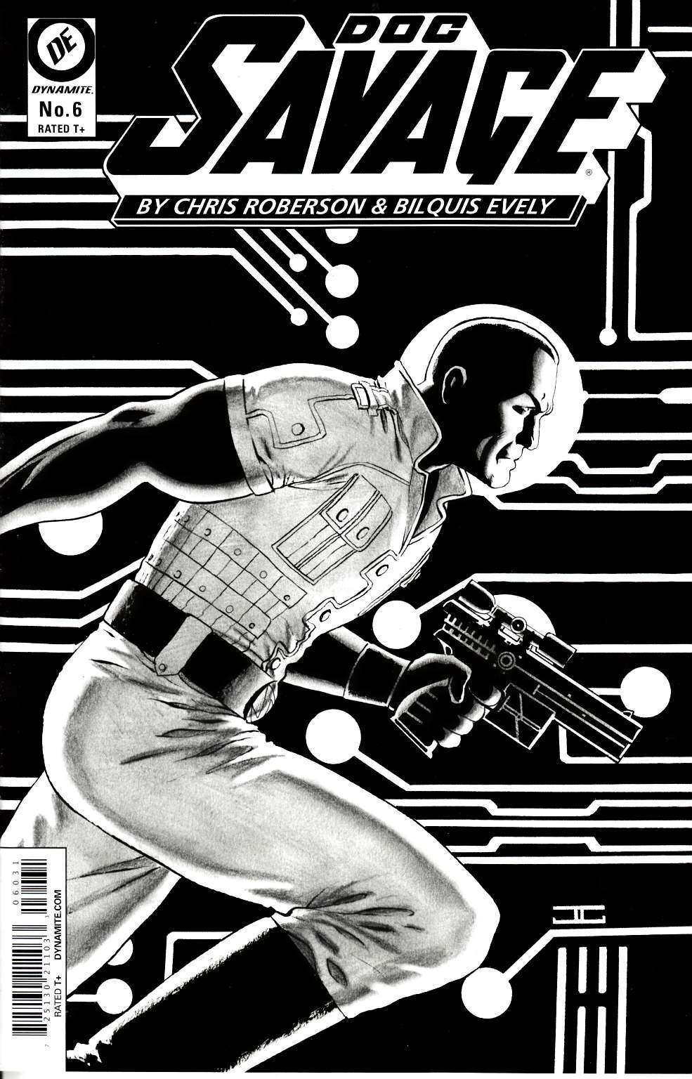Doc Savage #6 Cassaday Rare B&W VIP Cover [Comic] LARGE