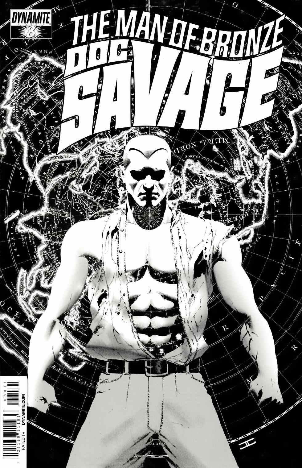 Doc Savage #8 Cassaday B&W VIP Incentive Cover [Dynamite Comic] THUMBNAIL