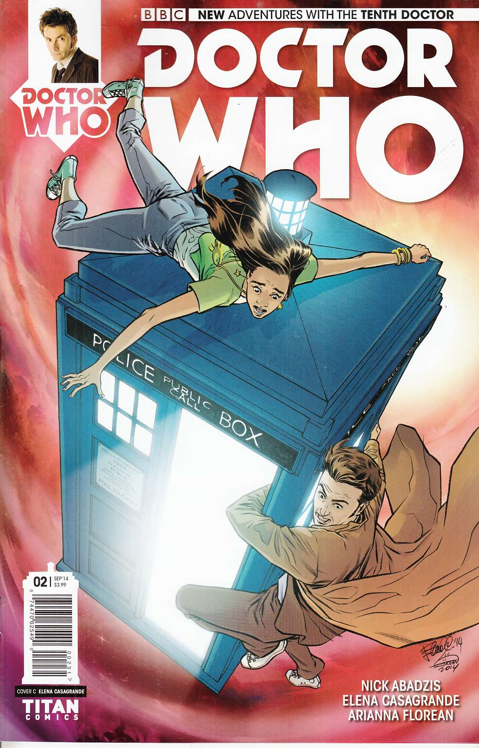 Doctor Who 10th Doctor #2 Cover RI- Casagrande [Comic]