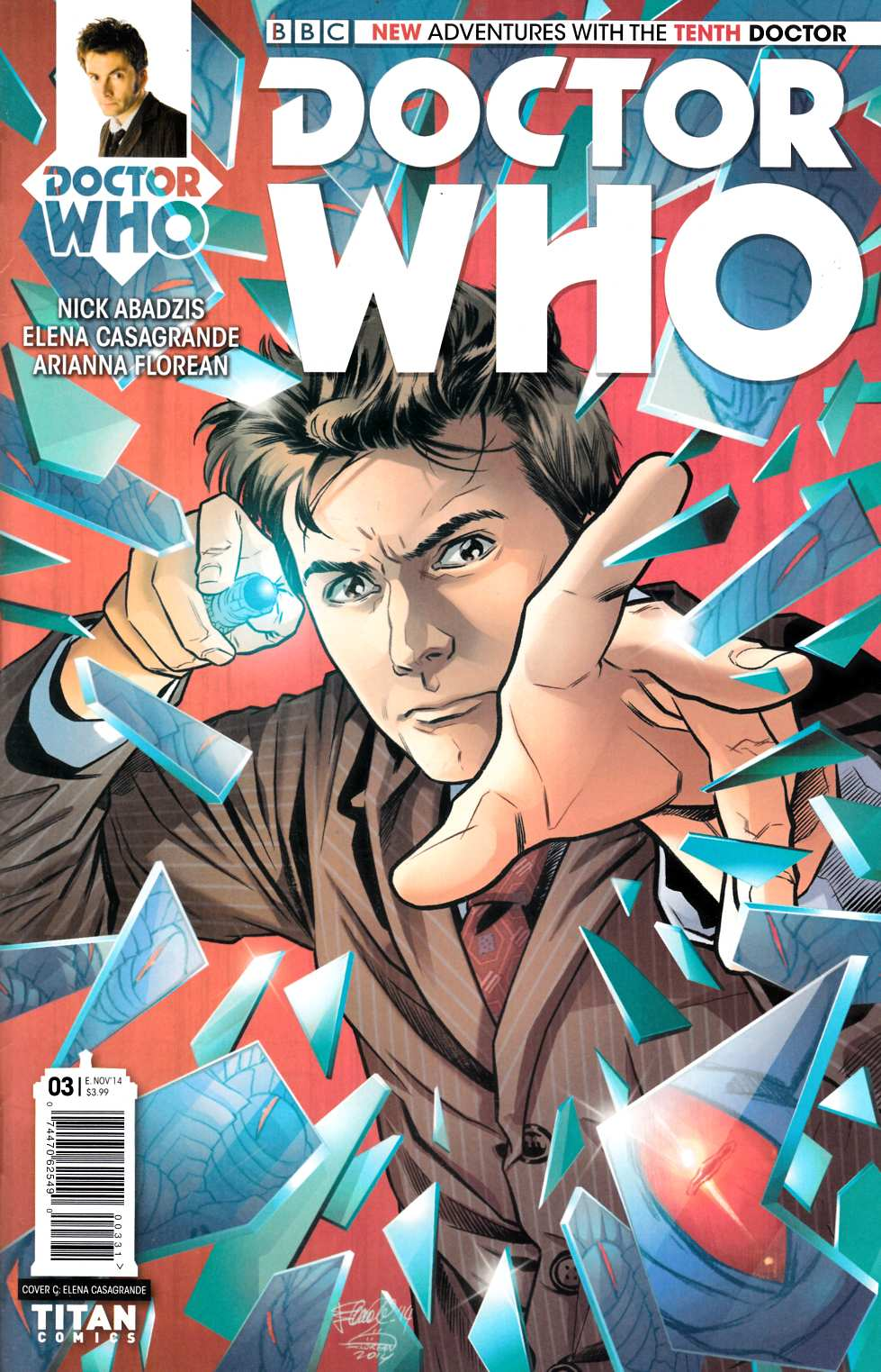 Doctor Who 10th Doctor #3 Casagrande Incentive Cover [Comic] THUMBNAIL