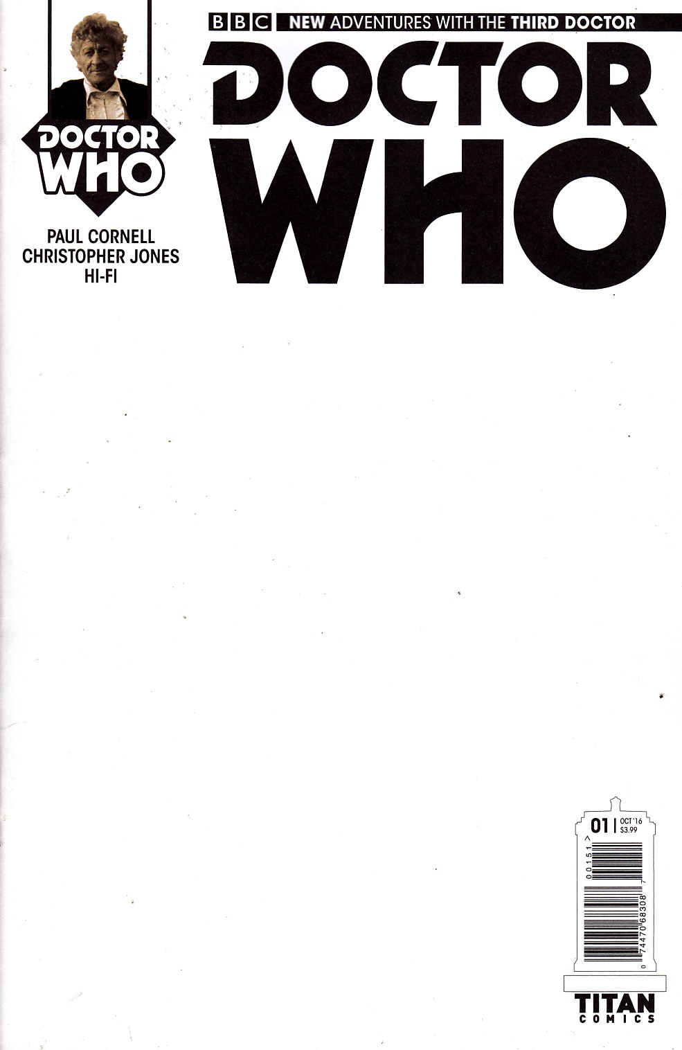 Doctor Who 3rd Doctor #1 Cover E- Blank [Titan Comic] THUMBNAIL