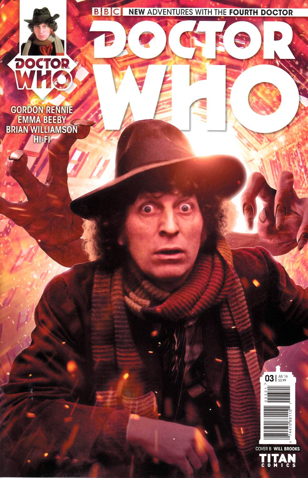 Doctor Who 4th Doctor #3 Cover B [Titan Comic] THUMBNAIL
