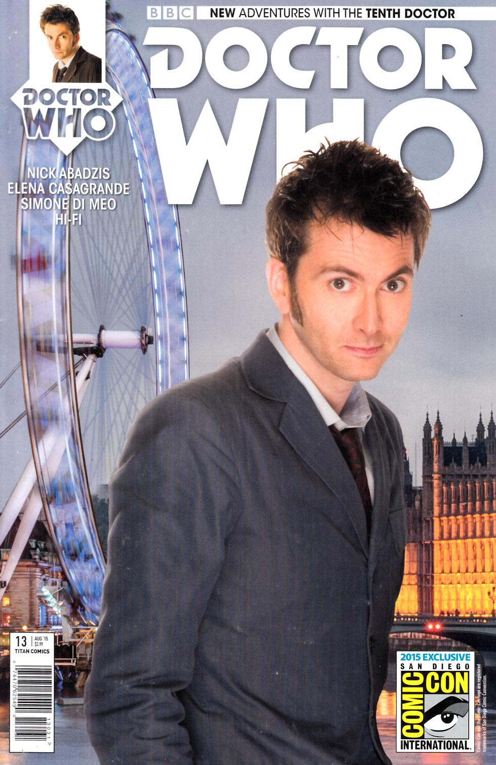 Doctor Who 10th Doctor #13 SDCC Exclusive Cover [Titan Comic]