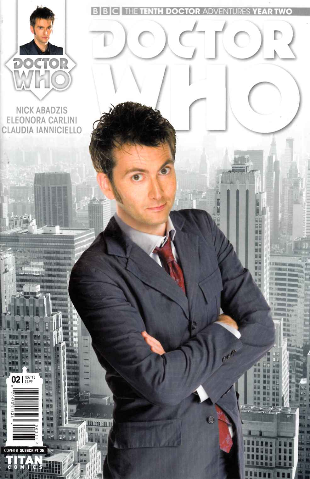 Doctor Who 10th Doctor Year 2 #2 Subscription Photo Variant Cover [Titan Comic]_THUMBNAIL