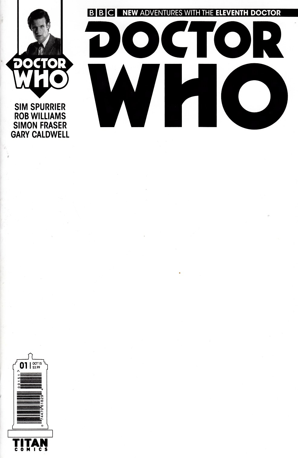 Doctor Who 11th Doctor Year 2 #1 Blank Sketch Variant Cover [Titan Comic]