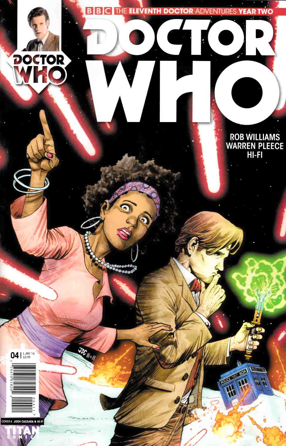 Doctor Who 11th Doctor Year 2 #4 Reg Cassara & Guerrero Variant Cover [Titan Comic]