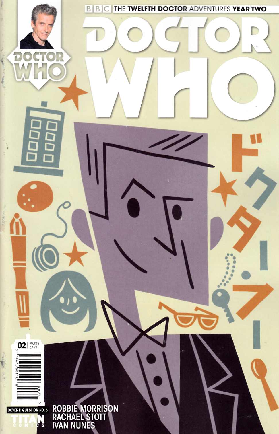 Doctor Who 12th Doctor Year Two #2 Question 6 Variant Cover [Titan Comic] THUMBNAIL