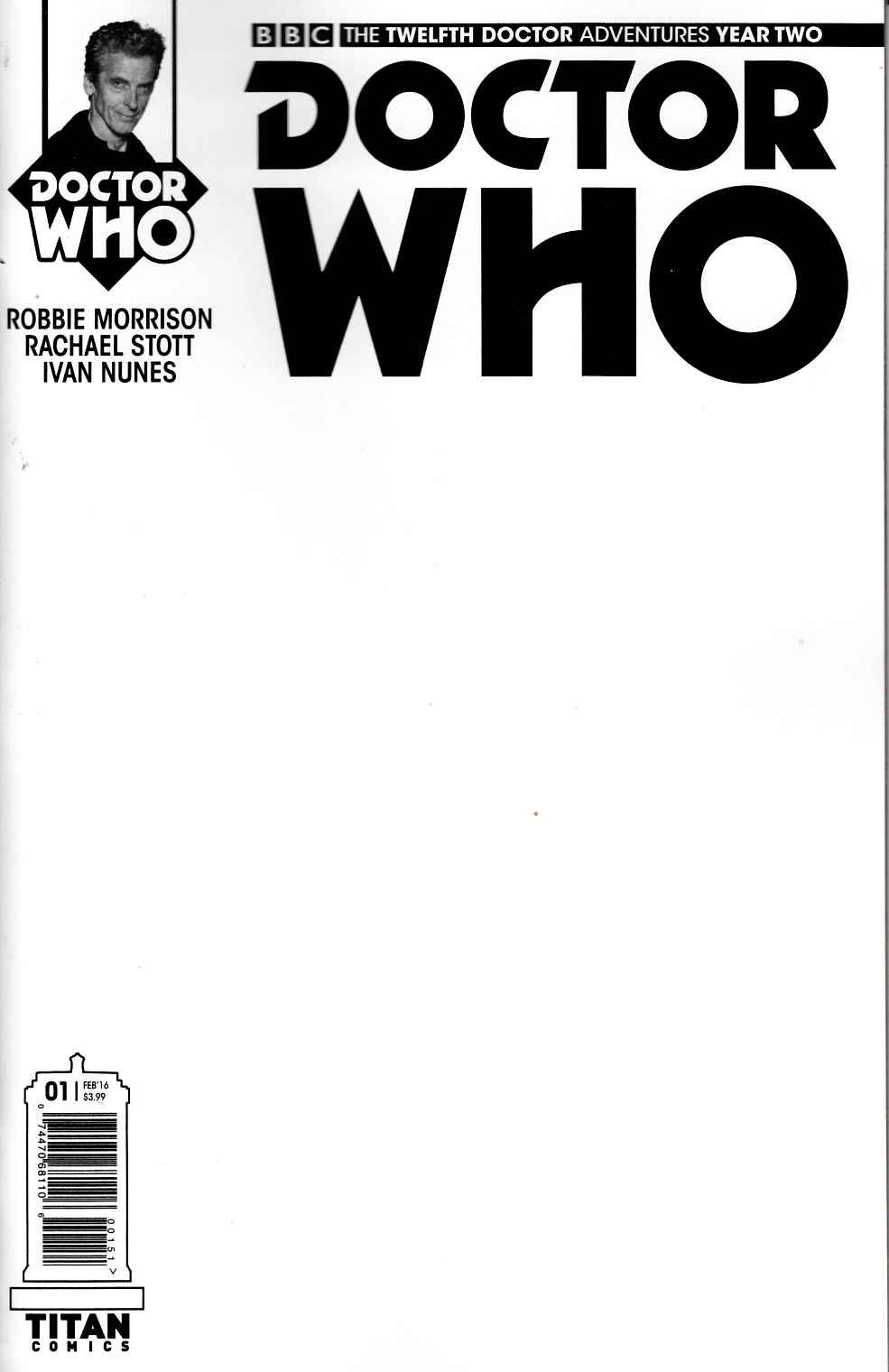 Doctor Who 12th Doctor Year 2 #1 Sketch Variant Cover [Titan Comic] THUMBNAIL