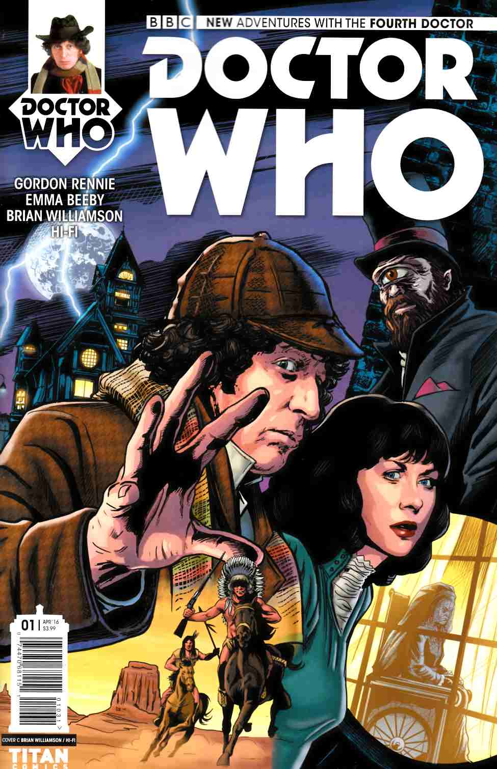 Doctor Who 4th Doctor #1 Cover C [Titan Comic] THUMBNAIL