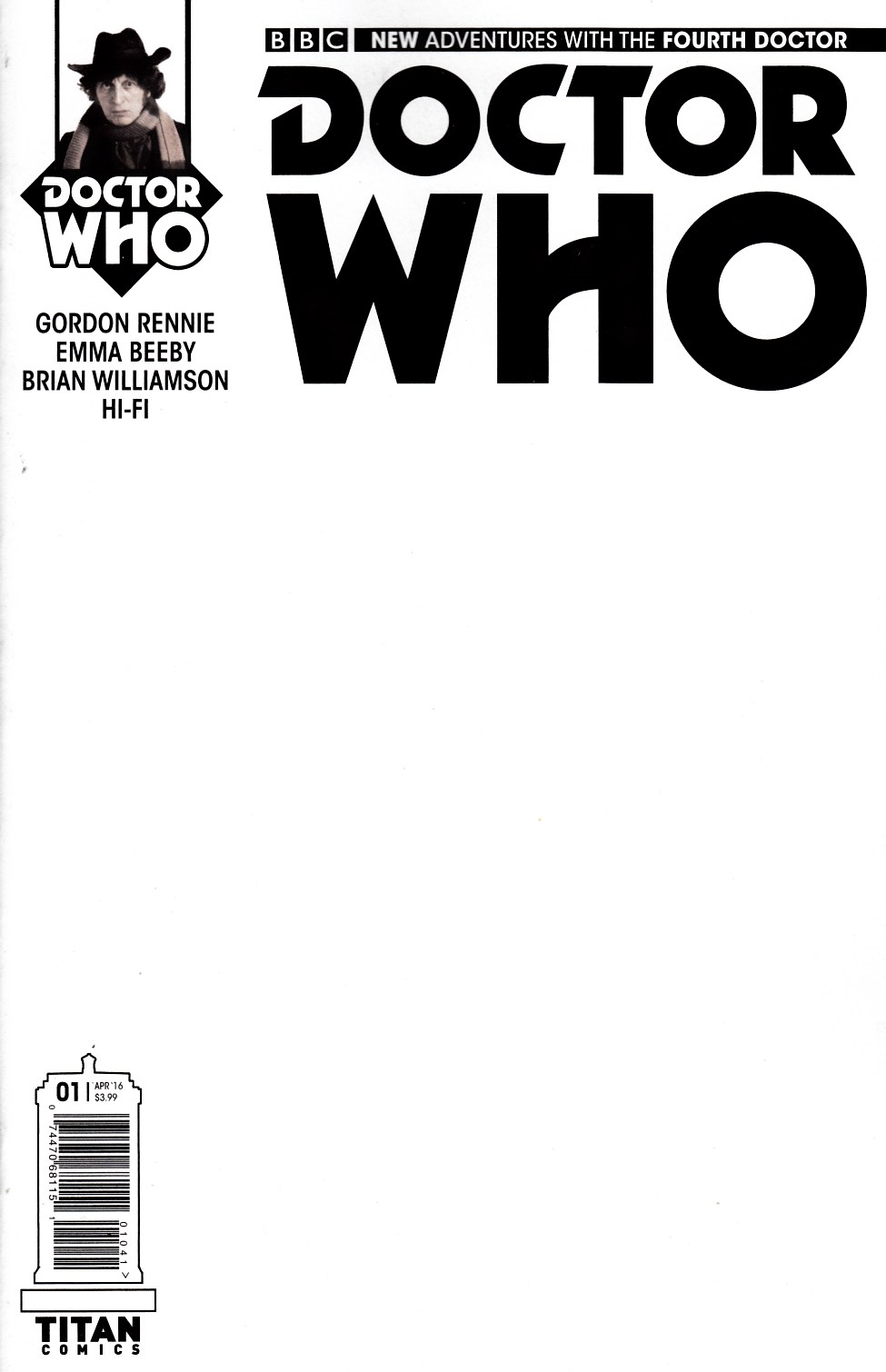 Doctor Who 4th Doctor #1 Cover D [Titan Comic] THUMBNAIL