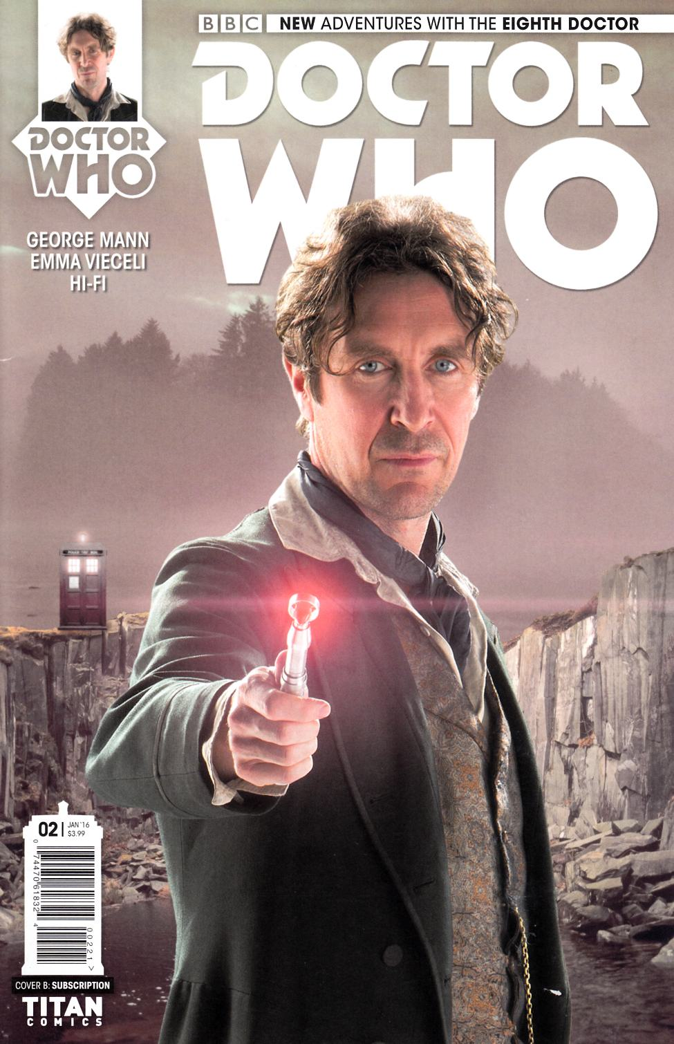 Doctor Who 8th Doctor #2 Subscription Photo Cover [Titan Comic] THUMBNAIL