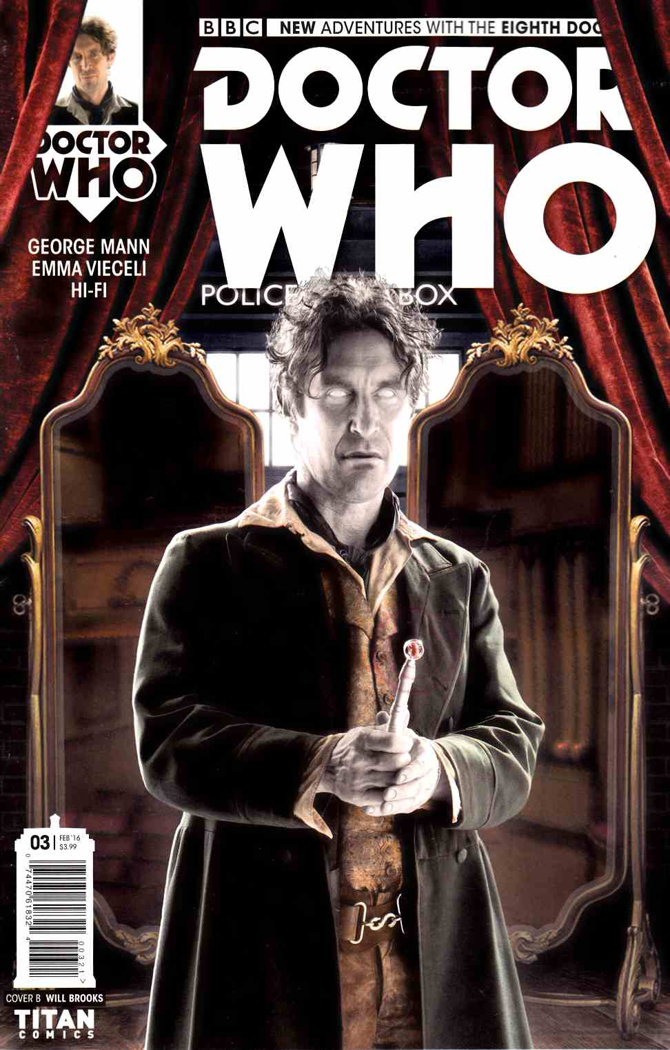Doctor Who 8th Doctor #3 Subscription Photo Cover [Titan Comic] THUMBNAIL