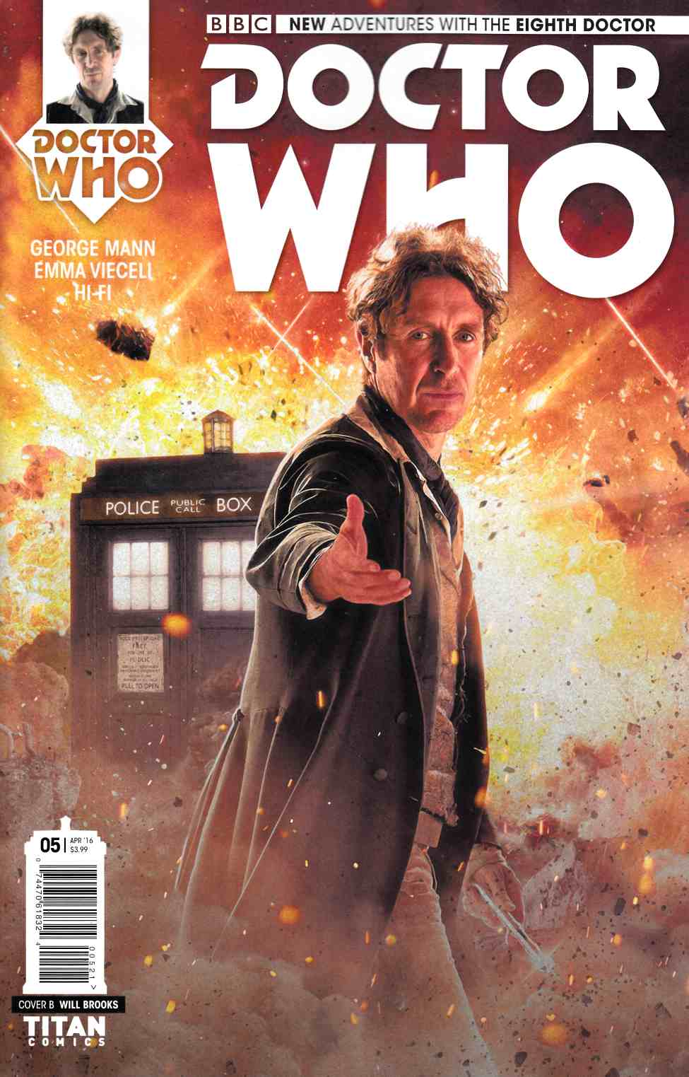 Doctor Who 8th Doctor #5 Cover B- Photo [Titan Comic] THUMBNAIL