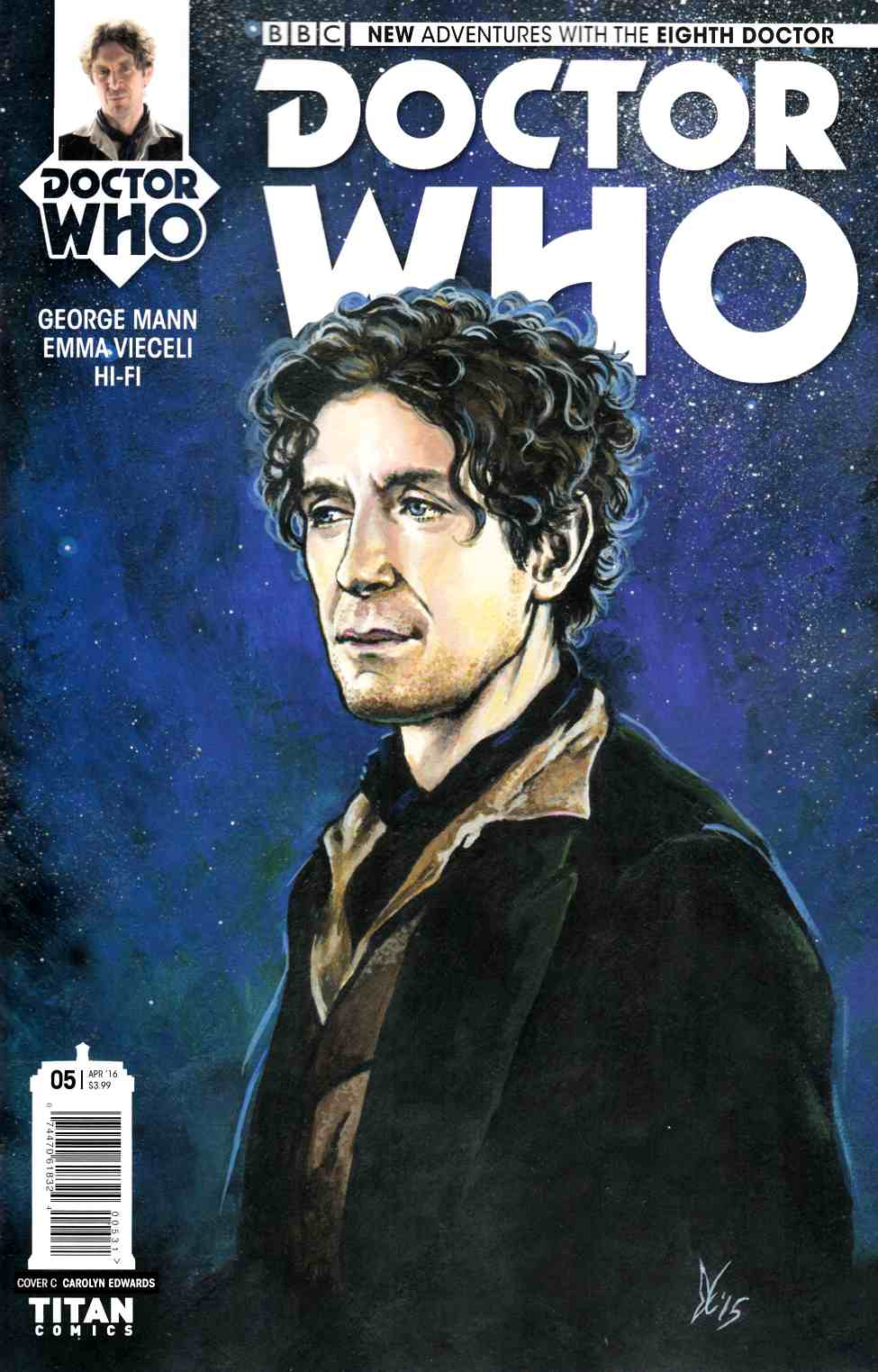 Doctor Who 8th Doctor #5 Cover C- Edwards [Titan Comic] THUMBNAIL