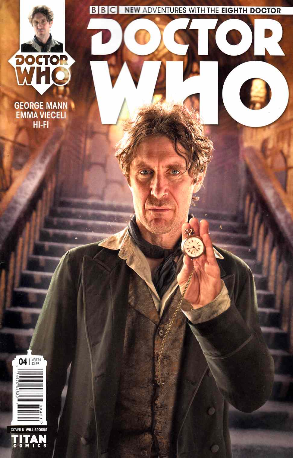 Doctor Who 8th Doctor #4 Subscription Photo Cover [Titan Comic] THUMBNAIL
