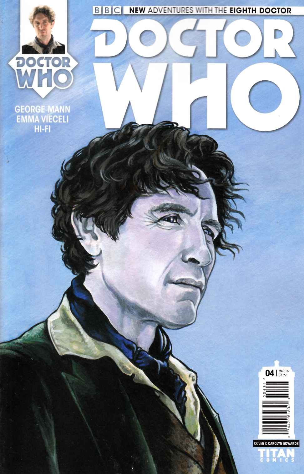 Doctor Who 8th Doctor #4 Edwards Variant Cover [Titan Comic] THUMBNAIL