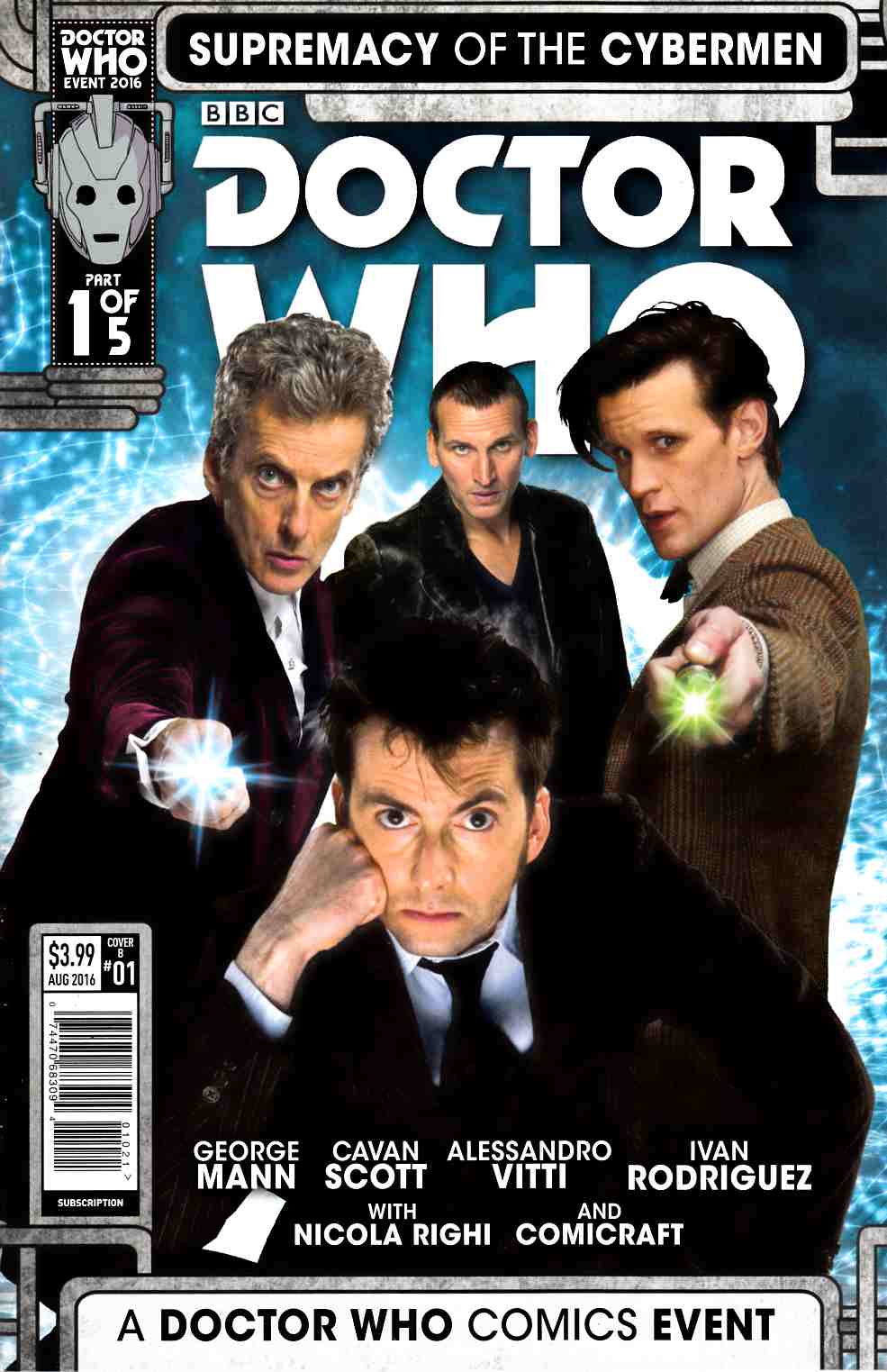 Doctor Who Supremacy of the Cybermen #1 Cover B [Titan Comic] LARGE