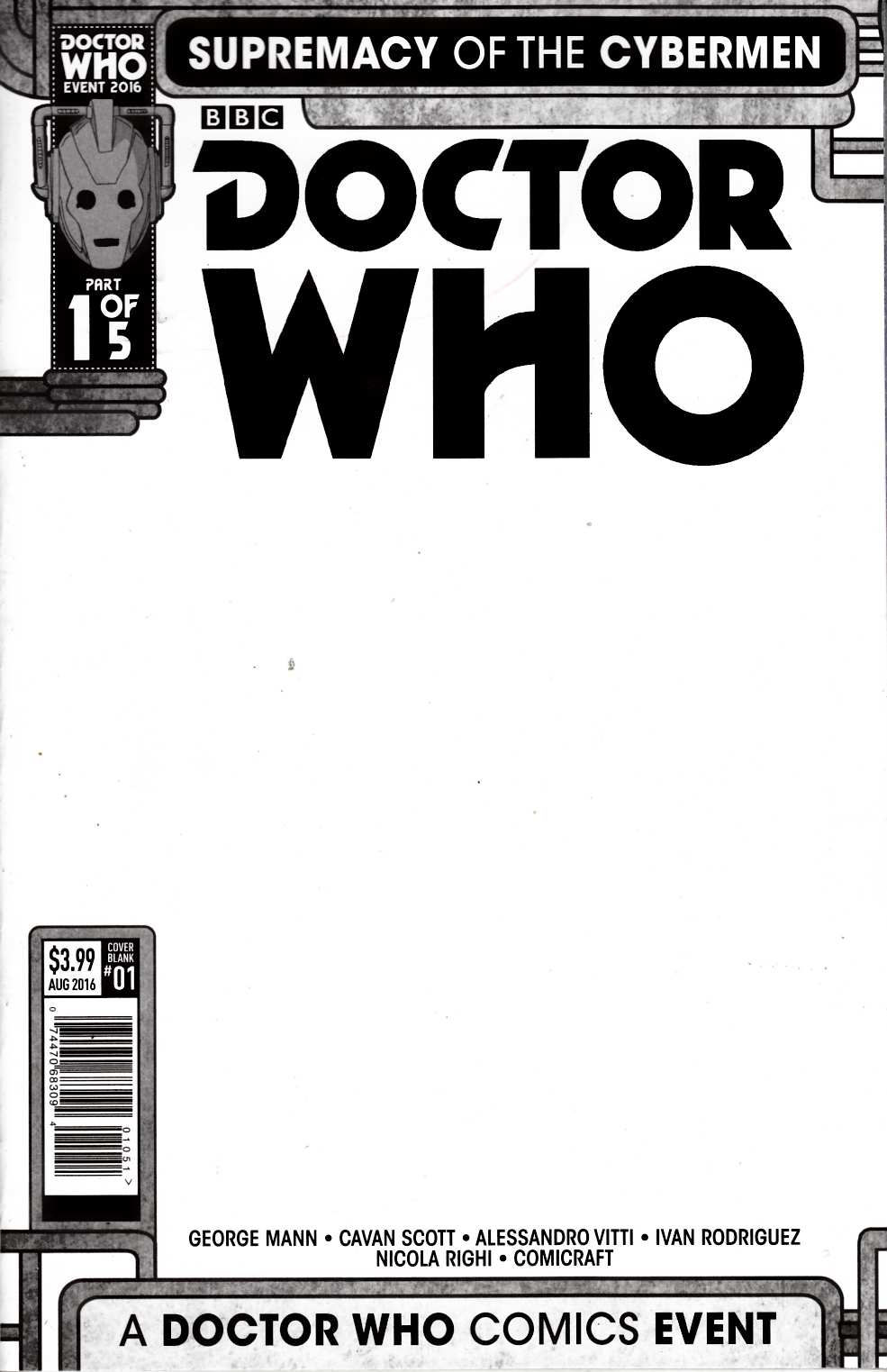 Doctor Who Supremacy of the Cybermen #1 Cover E [Titan Comic] THUMBNAIL