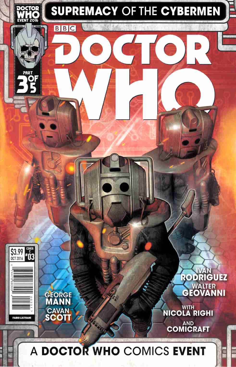 Doctor Who Supremacy of the Cybermen #3 Cover C [Titan Comic] THUMBNAIL