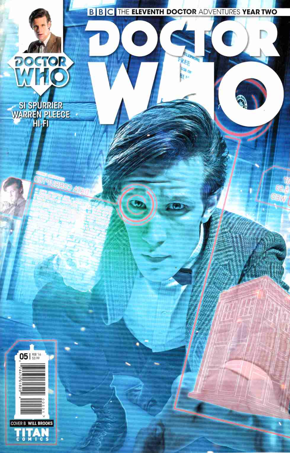Doctor Who 11th Doctor Year 2 #5 Brooks Subscription Photo Cover [Titan Comic]
